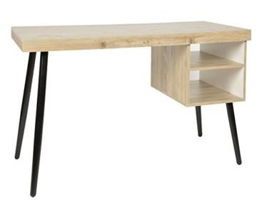 Schreibtisch design holz  ts-ideen Design Holz Schreibtisch Computer Arbeitstisch Konsole MDF+  Eschenholzoptik zum Arbeiten im Wohnzimmer Arbeitszimmer Schlafzimmer  Hobbyraum