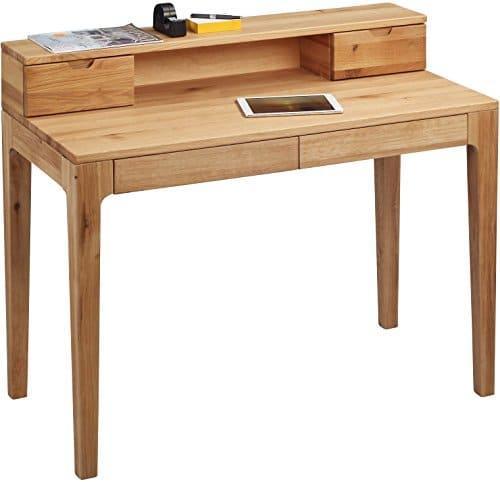 hometrends4you 612522 schreibtisch 110 x 76 96 x 55 cm wildeiche massiv ge lt mit schubladen. Black Bedroom Furniture Sets. Home Design Ideas