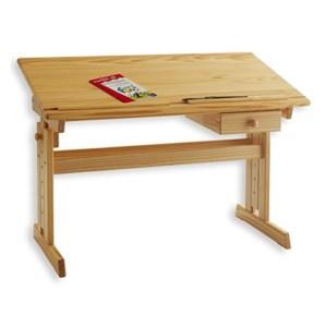 Kinderschreibtisch, Schülerschreibtisch aus Holz, höhenverstellbar